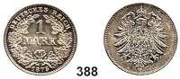 R E I C H S M Ü N Z E N,Kleinmünzen  1 Mark 1875 G.