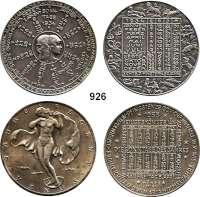 M E D A I L L E N,Kalendermedaillen  Silbermedaille 1934 (J. Prinz).  Randpunze : Münzamt Wien 900 und versilberte Medaille 1955 (Ottenstorfer).  Randpunze : BRONZE.  je 40 mm.  LOT 2 Stück.