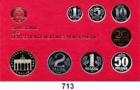 Deutsche Demokratische Republik,K U R S S Ä T Z E  Kurssatz 1986    1 Pfennig bis 5 Mark Brandenburger Tor