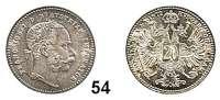 Österreich - Ungarn,Habsburg - Lothringen Franz Josef I. 1848 - 1916 20 Kreuzer 1872, Wien.  Frühwald 1582.  Jl. 340.