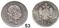 Österreich - Ungarn,Habsburg - Lothringen Franz Josef I. 1848 - 1916 1/4 Gulden 1872, Wien.  Frühwald 1553.  Jl. 341.