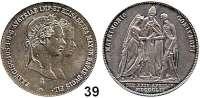 Österreich - Ungarn,Habsburg - Lothringen Franz Josef I. 1848 - 1916 Gulden 1854 A, Wien.  Hochzeit.  Frühwald 1908.  Jl. 299.  Herinek 823.
