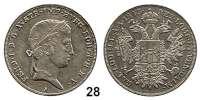 Österreich - Ungarn,Habsburg - Lothringen Ferdinand I., 1835 - 1848 1/2 Taler 1843 A, Wien  Frühwald 784.  Jl. 245.