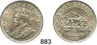 AUSLÄNDISCHE MÜNZEN,Britisch Ostafrika Georg V. 1910 - 1936 1 Shilling 1923.  Schön 24.  KM 21.