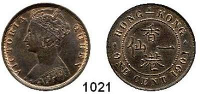 AUSLÄNDISCHE MÜNZEN,Hongkong Viktoria 1842 - 1901 1 Cent 1901 H.  Kahnt/Schön 2.  KM 4.3.