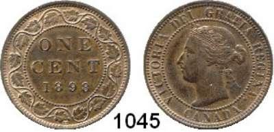 AUSLÄNDISCHE MÜNZEN,Kanada Viktoria 1837 - 1901 1 Cent 1898 H.  Kahnt/Schön 5.  KM 7.