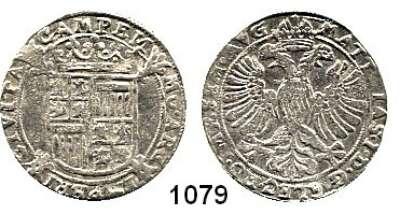 AUSLÄNDISCHE MÜNZEN,Niederlande Kampen, Stadt Adlerschilling o.J. mit Titel Matthias.  4,64 g.