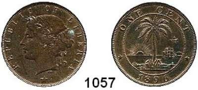 AUSLÄNDISCHE MÜNZEN,Liberia  1 Cent 1896.  Kahnt/Schön 6.  KM 5.