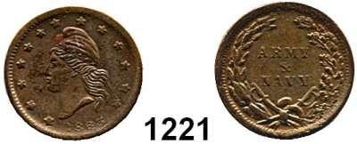 AUSLÄNDISCHE MÜNZEN,U S A  1 Cent 1863 ARMY & NAVY.