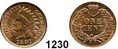AUSLÄNDISCHE MÜNZEN,U S A  Cent 1901.  Schön 117.  KM 90.