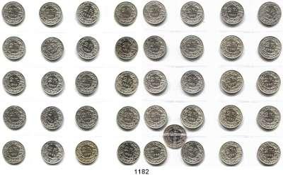 AUSLÄNDISCHE MÜNZEN,Schweiz LOTS    LOTS    LOTS 2 Franken Silber zwischen 1894 und 1967.  LOT 41 Stück.  In einem Album.