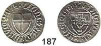 Deutsche Münzen und Medaillen,Deutscher Orden Winrich von Kniprode 1351 - 1382 Schilling o.J.  1,54 g.  Neumann 4.