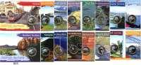 AUSLÄNDISCHE MÜNZEN,Australien L O T S     L O T S     L O T S 1 Dollar (Farbmünze, jeweils mit Tiermotiv) 2009 bis 2011.