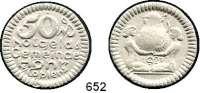 P O R Z E L L A N M Ü N Z E N,Münzen von anderen Deutschen Keramischen Fabriken Höhr 50 Pfennig 1921 weiß.  Menzel 11709.14.