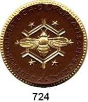 MEDAILLEN AUS PORZELLAN,Staatliche Porzellan-Manufaktur MEISSEN Berlin 1922 braun mit Golddekor.  Centralverband christl.Fabrik- und Transportarbeiter.