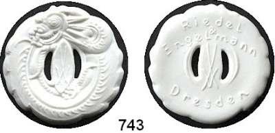 MEDAILLEN AUS PORZELLAN,Staatliche Porzellan-Manufaktur MEISSEN Dresden o.J.(1920) weiß.  Riedel & Engelmann.  Gipsform.
