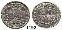 AUSLÄNDISCHE MÜNZEN,Spanien Philipp V. 1700 - 1746 2 Reales 1721, Madrid.  5,17 g.  Cayon 8720.