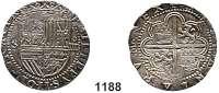 AUSLÄNDISCHE MÜNZEN,Spanien Phillip II. 1555 - 1598 4 Reales o.J., Sevilla.  13,66 g.  Cayon 3790.