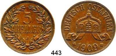 Besetzte Gebiete  -  Kolonien  -  Danzig,Deutsch - Ostafrika  5 Heller 1909 J.