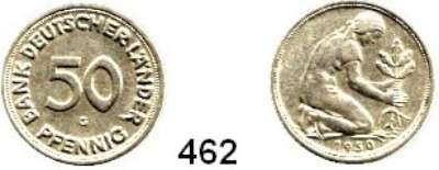 B U N D E S R E P U B L I K,  50 Pfennig 1950 G.  Bank Deutscher Länder.