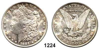 AUSLÄNDISCHE MÜNZEN,U S A  Morgan Dollar 1881 S.  Kahnt/Schön 78.  KM 110.