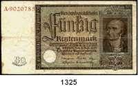 P A P I E R G E L D,R E N T E N B A N K  50 Rentenmark 6.7.1934.  Stein.  Serie A.  Ros. DEU-221.