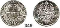 R E I C H S M Ü N Z E N,Kleinmünzen  1 Mark 1875 A.