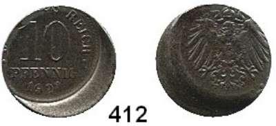 R E I C H S M Ü N Z E N,Proben und Verprägungen  10 Pfennig 1922 F.  Jaeger 298.  Dezentriert - 20 %.