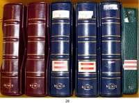 Österreich - Ungarn,Österreich L O T S     L O T S     L O T S Sechs Alben mit 1792 Kleinmünzen ab 18. Jahrhundert, meist Franz Josef I. und Republik.  Darunter 49 Silbermünzen (3x 25 Schilling, 3x 50 Schilling, 3x Silberunze).