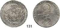 Deutsche Münzen und Medaillen,Preußen, Königreich Friedrich Wilhelm II. 1786 - 1797 2/3 Taler 1797, Berlin. 16,77 g.  Handelsmünze (geprägt für das Bankhaus Oppenheim).  v.S. 227.  Olding 57.  Jg. 184.