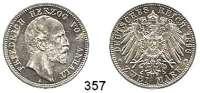 R E I C H S M Ü N Z E N,Anhalt, Herzogtum Friedrich I. 1871 - 1904 2 Mark 1896.
