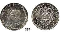 R E I C H S M Ü N Z E N,Preussen, Königreich Wilhelm II. 1888 - 1918 5 Mark 1901.  200 Jahre Königreich.
