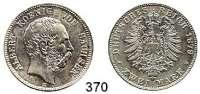R E I C H S M Ü N Z E N,Sachsen, Königreich Albert 1873 - 1902 2 Mark 1879.