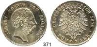 R E I C H S M Ü N Z E N,Sachsen, Königreich Albert 1873 - 1902 5 Mark 1876.