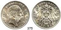 R E I C H S M Ü N Z E N,Sachsen, Königreich Albert 1873 - 1902 5 Mark 1902.  Auf seinen.Tod.