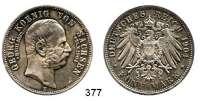R E I C H S M Ü N Z E N,Sachsen, Königreich Georg 1902 - 1904 5 Mark 1904.  Auf seinen Tod.
