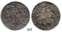 Deutsche Münzen und Medaillen,Mansfeld - Vorderort - Friedeburg Peter Ernst I., Bruno II., Gebhard VIII. und Johann Georg IV. 1587 - 1601 Taler 1593 B-M, Eisleben.  28,61 g.  Tornau 599 d.  Dav. 9510.