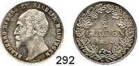 Deutsche Münzen und Medaillen,Sachsen - Meiningen Bernhard II. Erich Freund 1803 - 1866 1/2 Gulden 1854.  AKS 192.  Jg. 443.
