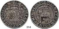 Deutsche Münzen und Medaillen,Stolberg Wolfgang Georg, 1615 - 1631 Reichstaler 1625, Stolberg.  28,92 g.  Friedrich 898ff.  Dav. 7778.
