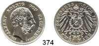 R E I C H S M Ü N Z E N,Sachsen, Königreich Albert 1873 - 1902 2 Mark 1902.      Auf seinen Tod.