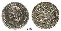 R E I C H S M Ü N Z E N,Sachsen, Königreich Albert 1873 - 1902 5 Mark 1902.     Auf seinenTod.