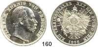Deutsche Münzen und Medaillen,Preußen, Königreich Wilhelm I. 1861 - 1888 Taler 1866 A.  Kahnt 388.  AKS 99.  Jg. 96.  Thun 270.  Dav. 782.