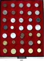 R E I C H S M Ü N Z E N,L O T S     L O T S     L O T S  Typensammlung der deutschen Kleinmünzen von 1 Pfennig bis 500 Mark.  Jaeger 1, 2, 3, 4, 6, 7, 8, 9, 10, 11, 12, 13, 14, 16, 17, 18, 297, 298, 299, 300, 301, 302, 303, 304, 305, 306, 307, 308, 309, 310, 313, 314, 315, 316, 317, 324 und Saarland-Satz 1954/55 (4 Münzen).  LOT 40 Stück.