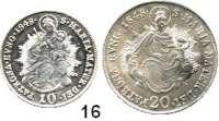 Österreich - Ungarn,Habsburg - Lothringen Ferdinand I., 1835 - 1848 10 Kreuzer 1848 B und 20 Kreuzer 1848 B.  Herinek 286 und 329.  LOT 2 Stück.