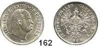 Deutsche Münzen und Medaillen,Preußen, Königreich Wilhelm I. 1861 - 1888 1/6 Taler 1868 A.  AKS 101.  Jg. 95.