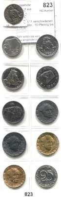 Notmünzen; Marken und Zeichen,0 Aachen (Rheinprovinz) LOT von 11 verschiedenen Notmünzen.  10 Pfennig bis 2 Mark.
