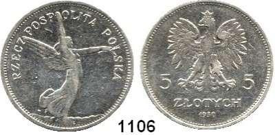 AUSLÄNDISCHE MÜNZEN,Polen Republik 1919 - 1939 5 Zlotych 1930.  Nike.  Fischer OB 013.  Schön 17.  Y. 18.