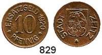 Notmünzen; Marken und Zeichen,0 Zeitz (Provinz Sachsen) Stadt  10 Pfennig 1920.  Kupferabschlag.  Menzel 27919.4.  Funck 621.2 Anm.  5,06 Gramm.