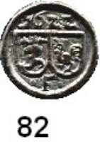 Deutsche Münzen und Medaillen,Brandenburg - Preußen Georg Wilhelm 1619 - 1640 Kipperpfennig 1622, Frankfurt an der Oder.  0,23 g.  Bahrfeldt 690 e.