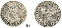 Deutsche Münzen und Medaillen,Brandenburg - Preußen Friedrich Wilhelm der Große Kurfürst 1640 - 1688 18 Gröscher 1684 HS, Königsberg.  6,28 g.  v.S. 1687.